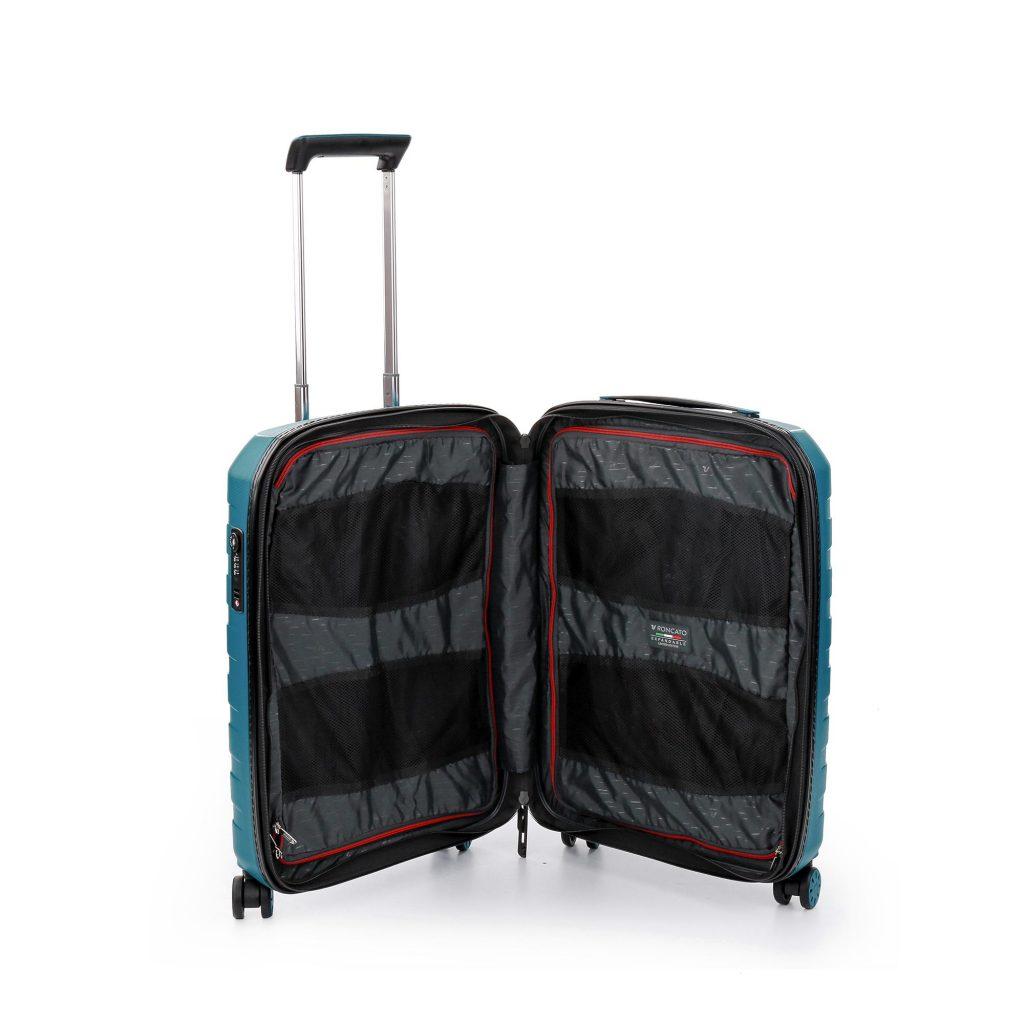 Nội thất của những mẫu vali kéo nhựa cabin size thuận tiện quản lý đồ đạc