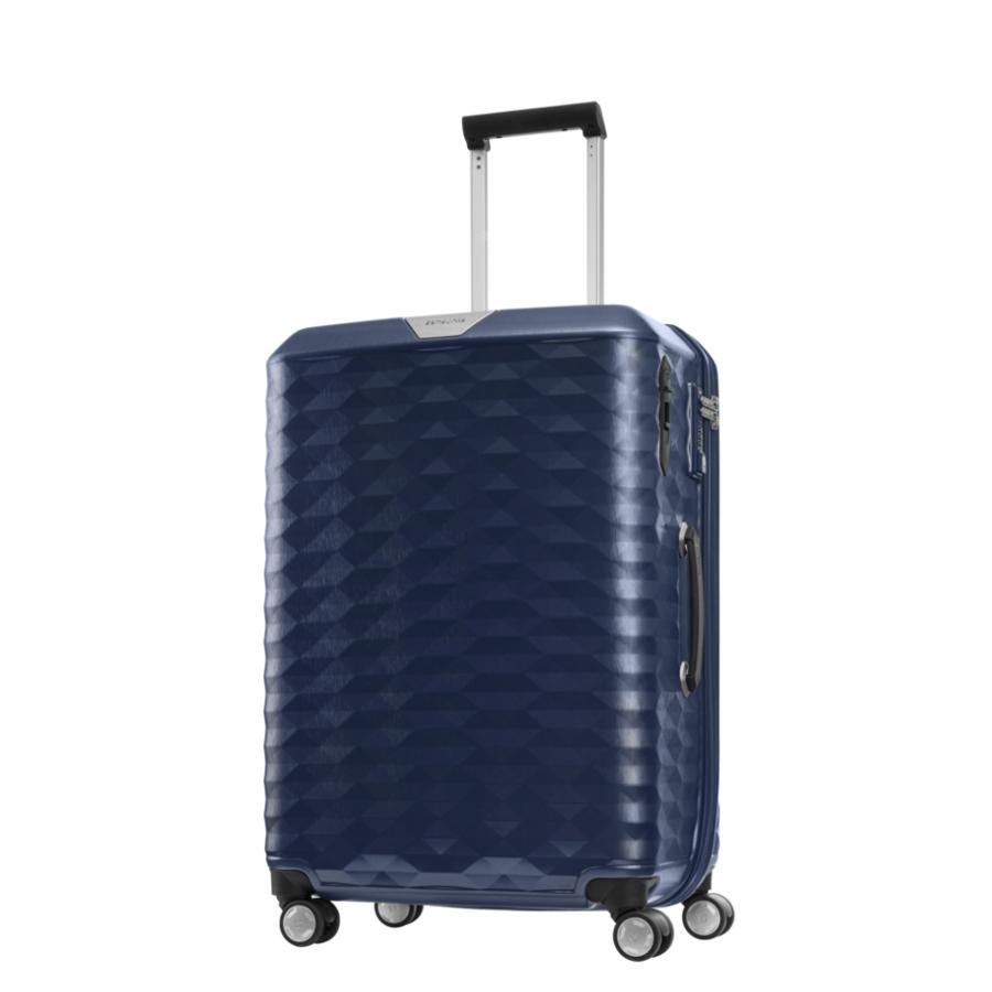 Vali kéo nhựa Samsonite Polygon size 25 màu xanh